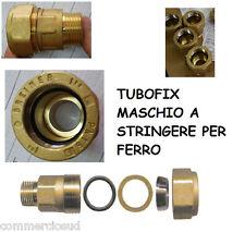 """RACCORDO TUBO FIX MASCHIO OTTONE GIUNZIONE RIPARAZIONE TUBO FERRO DA 1/2 3/4 1"""""""