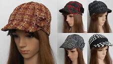 New Girl Newsboy Baker Boy Flower Bow 6-8 10-12 years Handmade Hat Cap BN