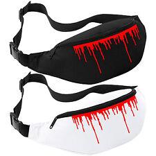 Rojo sangre goteando Riñonera-Cinturón Horror Halloween Fanny Pack Bolso Cartera de cadera