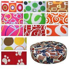 "Round Box Shape Cover 2""Thick*Modern Cotton Canvas Chair Seat Cushion Case *AL0"