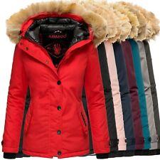 Navahoo LAURA Damen Winter Jacke Steppjacke Mantel Parka Kapuze Warm Gefüttert
