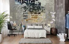3D Newspaper Graffiti 885 Wallpaper Mural Paper Wall Print Murals UK Lemon