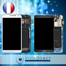 Ecran vitre complet sur chassis pour Samsung Galaxy Note3 N9000 N9005 blanc/gris