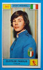 Figurina CAMPIONI DELLO SPORT 1969/70-n.387-FASOLIS (ITA)-SPORT INVERNALI-rec
