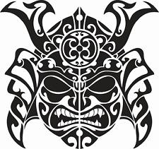 Samurai Mask Vinyl (new) Sticker Decals