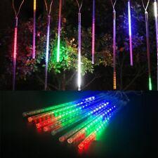 8 Tube LED Meteor Shower Falling Rain Drop Light 30/50cm Tree Decoration Outdoor