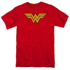 Wonder Woman Distressed Logo Licensed Adult T Shirt