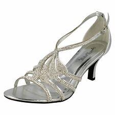 da donna strass color argento con tacchi anne michelle sandali MATRIMONIO/PARTY