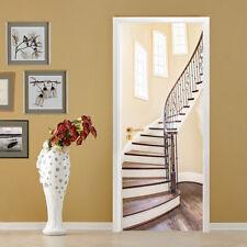 3D Interior stairs Door Wall Mural Photo Wall Sticker Decal Wall AJ WALLPAPER CA