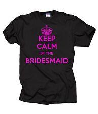 Keep Calm I'm Bridesmaid T-Shirt Wedding Tshirt Tee Shirt Keep Calm Style