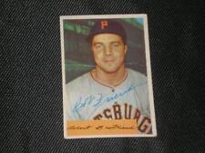 BOB FRIEND 1954 BOWMAN SIGNED AUTO CARD #43 PIRATES