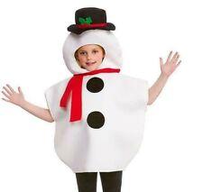 Child CHRISTMAS SNOWMAN Xmas Fancy Dress Costume Outfit Festive Fun School Party