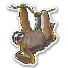 2 x Lazy Sloth Sticker Car Bike iPad Laptop Kids Skateboard Funny Gift #4134/SV