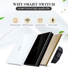 1/2/3 Gang WiFi Smart Touch Wall Light Switch EU/UK Panel For Alexa Google Home