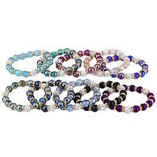 Elastisches Damenarmband Damen Armband Glasperlen Glaskugeln Strasssteine Perlen
