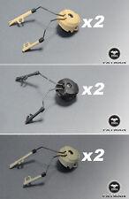 FMA Peltor Sordin Headset and Fast Helmet Rail Adapter Set DE/BK/FG (TYPE 1)