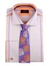 Dress Shirt by Steven Land Classic Fit- French Cuff -Tan- DA1847-TA