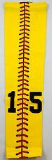 NEW! Custom Number YOUTH MEDIUM Sports Arm Sleeve YELLOW RED SOFTBALL STITCH