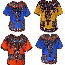New Swirl Design Dashiki Shirt Hippie Vtg Print African Swag dimepiece One Size