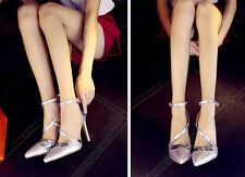 Décollte Scarpe decolte donna spillo tacco 11 cm stiletto argento 8702