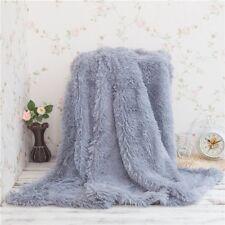 Super Soft Shaggy Faux Fur Blanket Ultra Plush Bedding Decorative Throw Comfort@