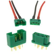 Multiplex MPX RC Verbindungen Stecker & Buchse + Silikon-kabel UK Verkäufer