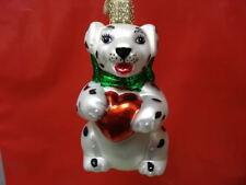 Old World Christmas Dalmation Puppy Valentine Ornament 12021 22