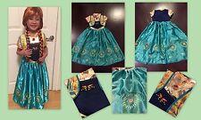 NEW FROZEN FEVER INSPIRED PRINCESS ANNA  BIRTHDAY PARTY DRESS Elsa