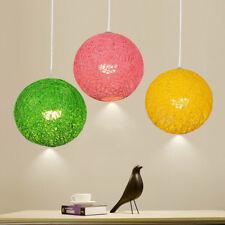 Round Hand Woven Rattan Vine Ball Pendant Lampshade Ceiling Light Lamp Shade