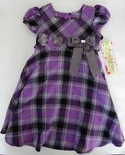 Ashley Ann Size 4 Purple Plaid Short Sleeve Dress Girls Clothing