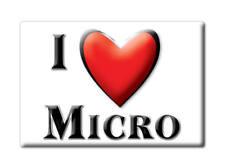 SOUVENIR USA - NORTH CAROLINA FRIDGE MAGNET I LOVE MICRO (JOHNSTON COUNTY)