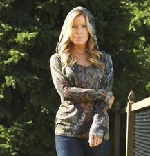 Mossy Oak Camo Hoodie Shirt Hooded Tee Womens S M L XL
