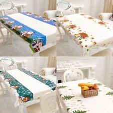 110*180cm Xmas Santa Claus Table Cover Christmas Tablecloth Festival Decor
