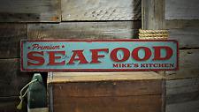 Premium Seafood, Custom Cook Chef Name - Rustic Distressed Wood Sign ENS1001334