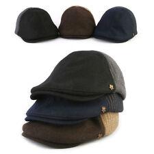 Unisex Mens Mqum Wool Stripes Winter Flat Cap Newsboy Cabbie Gatsby Driver Hats