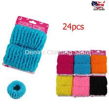 24pcs Hair Tie Bun Maker Donut Solid Colors Ponytail Holders Scrunchies Up Lot