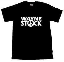 Wayne STOCK Cool T-Shirt Tutte Le Taglie Nero #