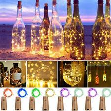 Wine Bottle Lights Cork Shape 20 Led Fairy String Party Centerpieces Decors 6ft