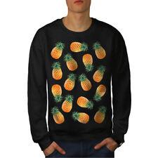 Wellcoda Pinapple Fiesta Mens Sweatshirt, Pattern Casual Pullover Jumper