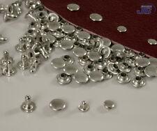 100x Hohlniete Nieten 5 7 10,5 13mm Messing Silber Schwarz Rostfrei