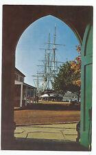 Vintage Postcard Mystic Seaport CT Charles W Morgan Fishtown Chapel Connecticut