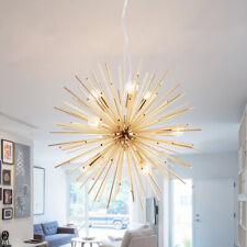 Mid Century Modern Brass Sputnik Atomic Chandelier Starburst Led Pendant Light