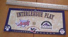 1997 MLB Baseball 1st interleague play comm oversized ticket Angels Rockies