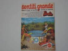 advertising Pubblicità 1974 PISCINA BARBIE MATTEL