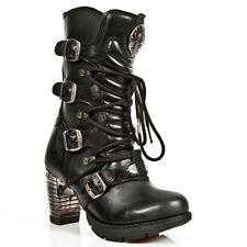 New Rock Boots Femmes Punk Gothic Bottes - Style TR003 S1 Noir