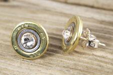 410 Gauge Brass Shotgun Shell Earring Studs Sterling Silver WIN-410-BNC-SEAR