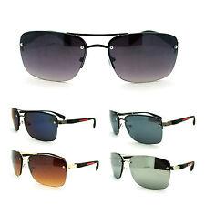 Mens Rimless Rectangular Narrow Aviator Sport Design Fashion Sunglasses