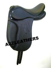 """Beautiful black Dressage Synthetic Saddle sizes 16"""",17"""" & 17.5"""""""