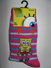 Spongebob*Socken/Strümpfe* 23-26/27-30/31-34 *RosaBlau gestreift * Neu (T49)