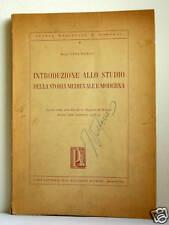 INTRODUZIONE ALLO STUDIO DELLA STORIA MEDIEVALE E MODER
